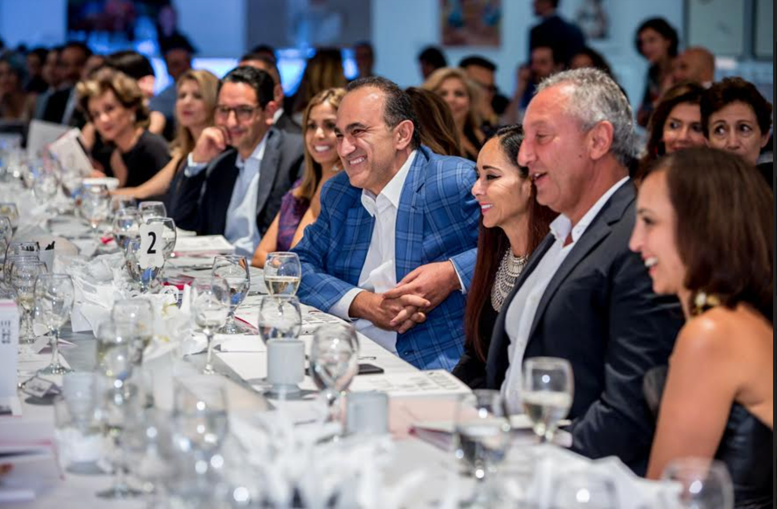 Dinner guests at MOP auction, Bonhams