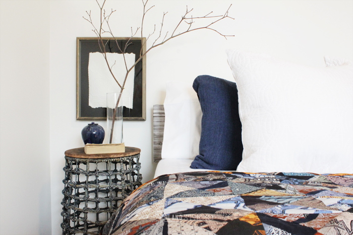 Behind The Scenes: Interior Styling of a Blue Bedroom | By Planq Studio | Ever wondered how an interior stylist stages a room for photography? This post shares all the secret styling tricks!