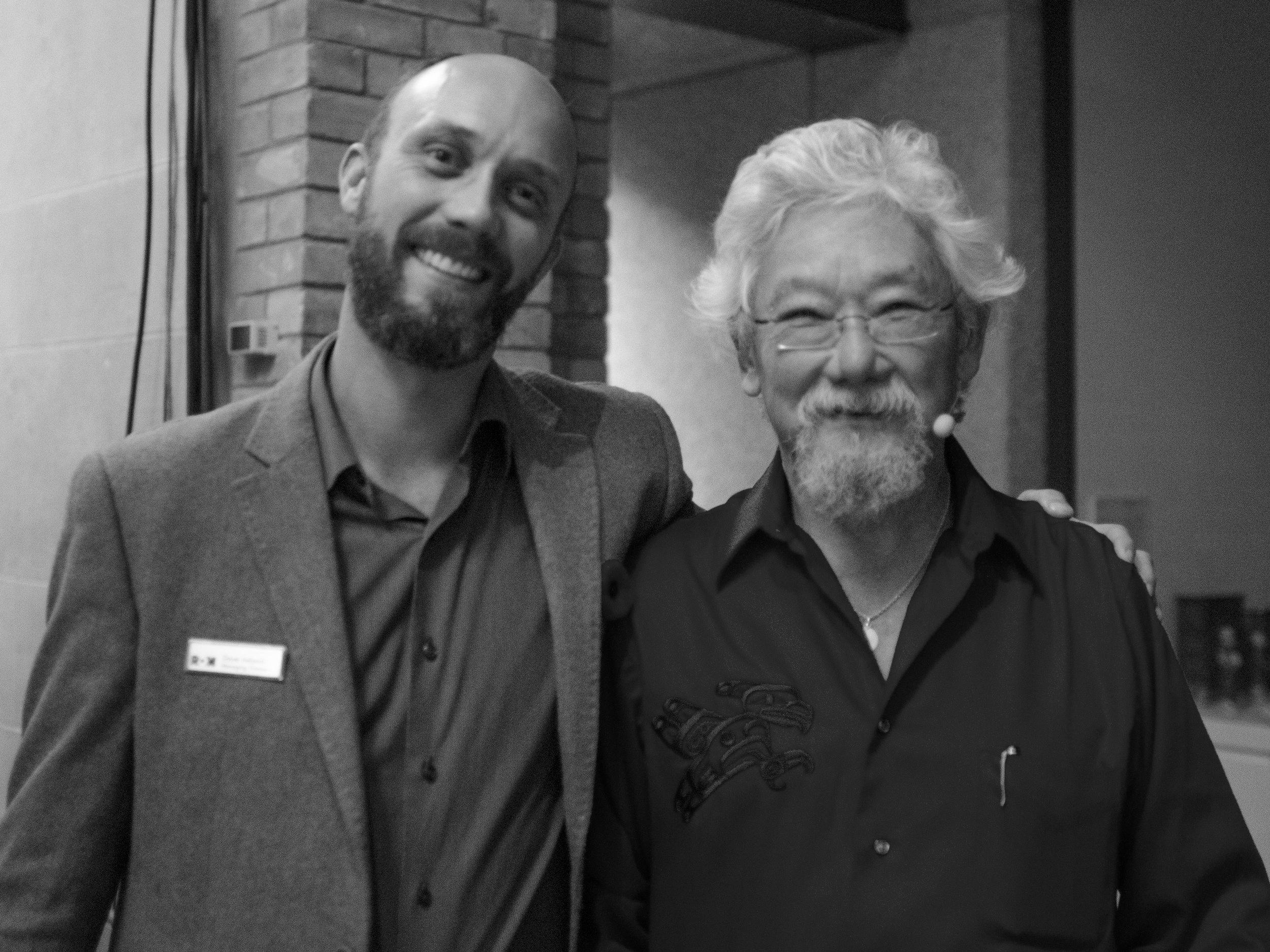 Dave Ireland and David Suzuki, Environmental Activist Image by Stacey Kerr