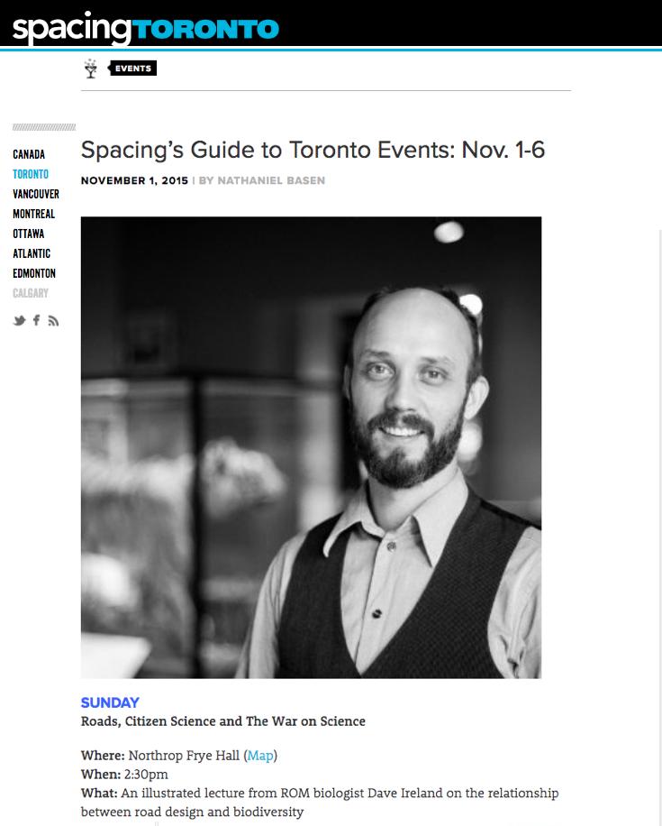Spacing Magazine  - November 1, 2015