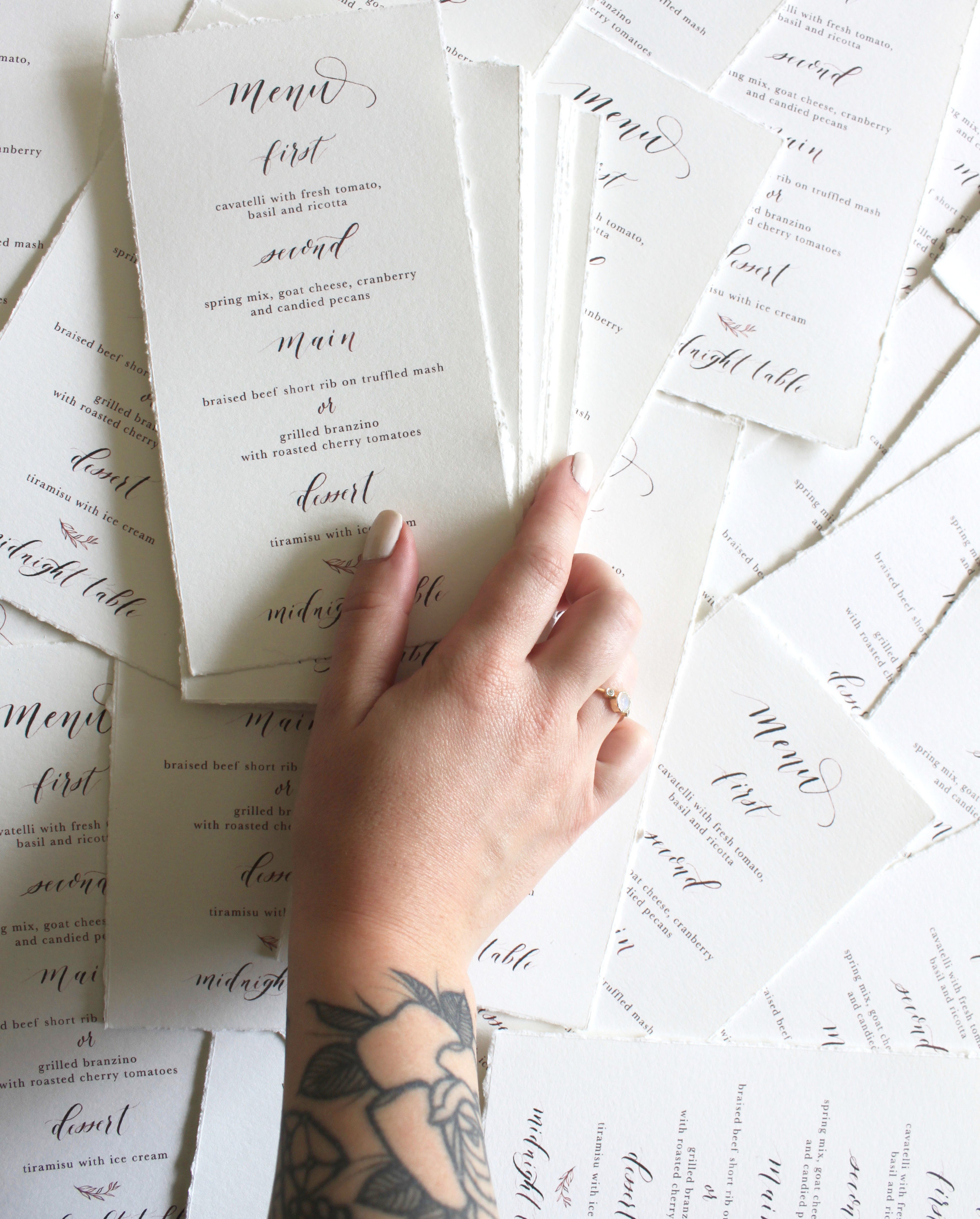 Rustic Menus for a Fall Wedding