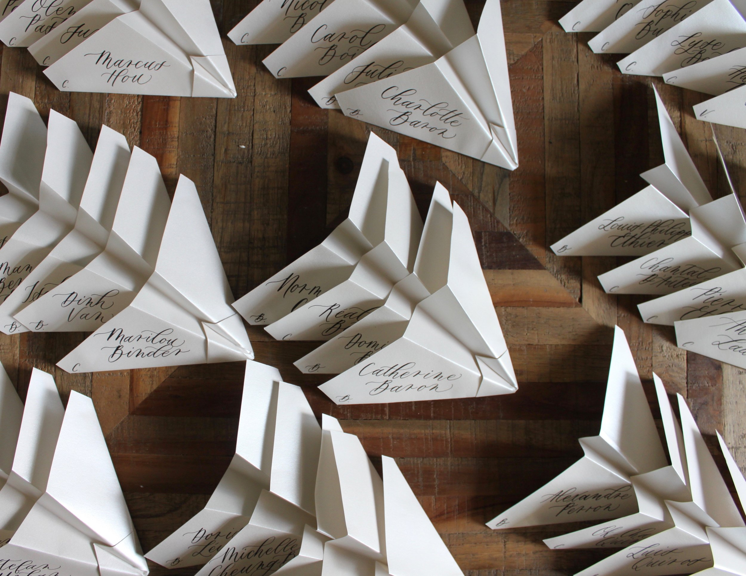 Paper Airplane Place Cards