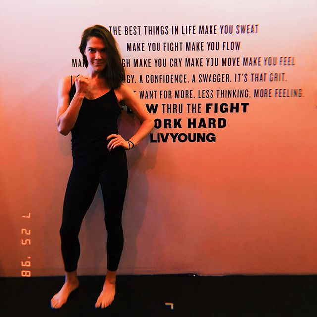 dancer💃🏻 + fighter🥊. Liquid in movement. Strong in stance. SexyAF.  Meet Louisa **thurs 815a + sun 915a. @louisanpancoast #boxandflow #flowthruthefight™️