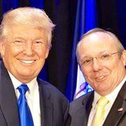 President Trump with retired Colonel Rob Maness