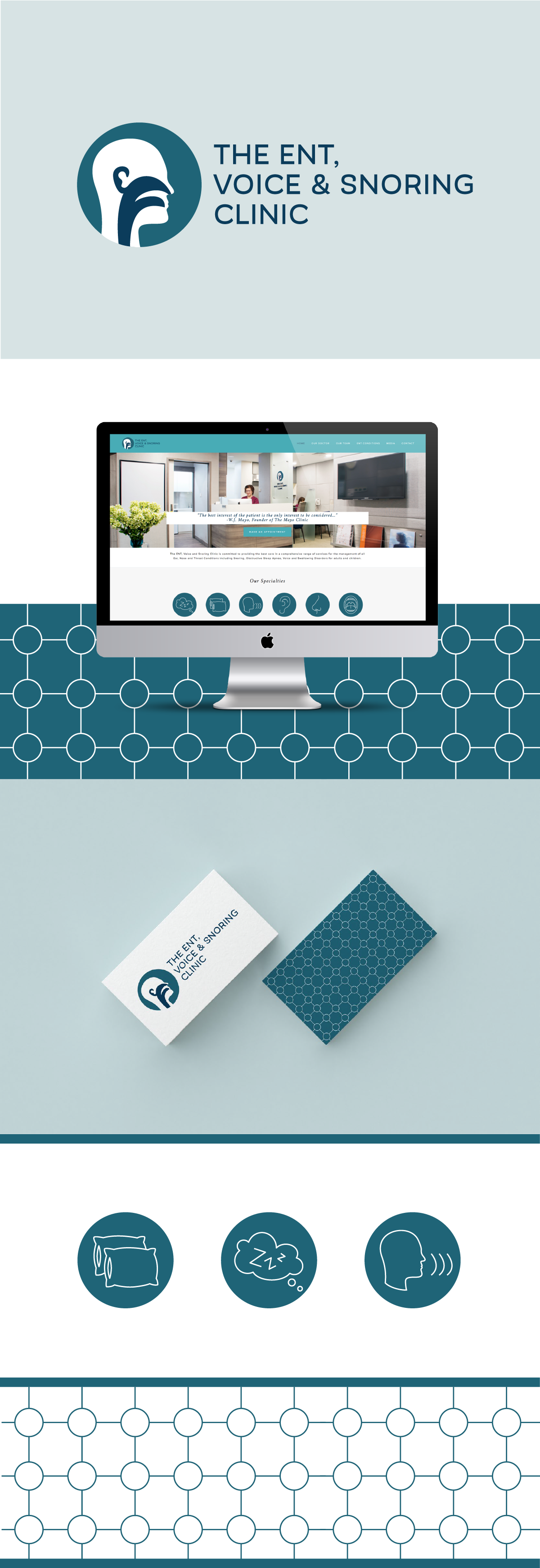 Logo and Visual Branding for Medical Clinic by Delilah Creative   www.delilahcreative.com
