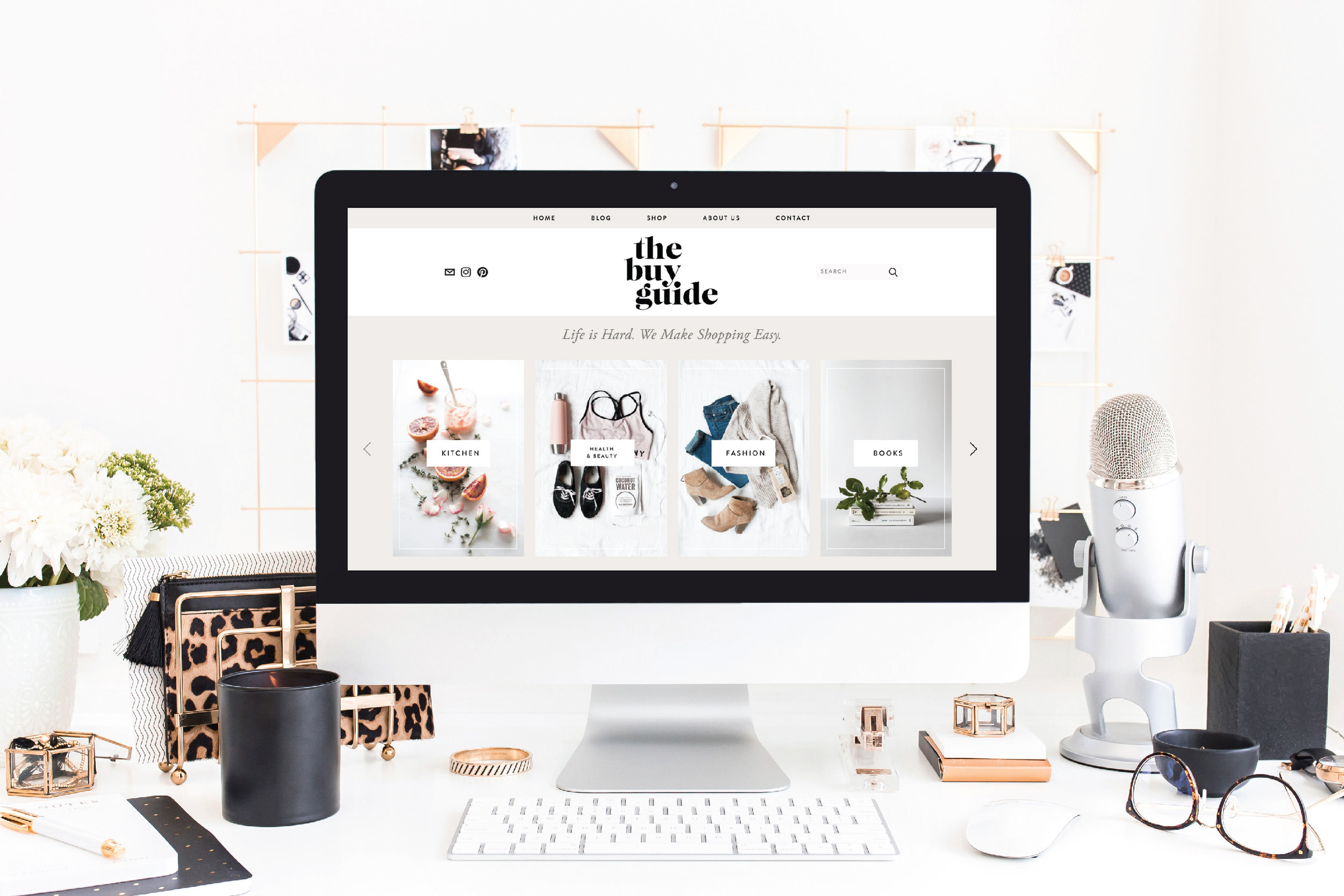 The buy guide: branding + website