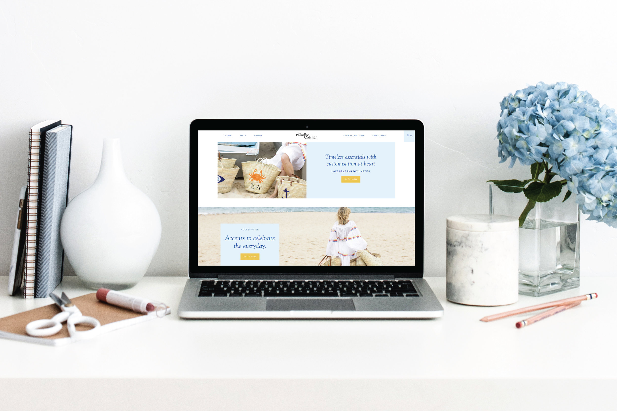 The Paradise Catcher: Shopify E-Commerce website