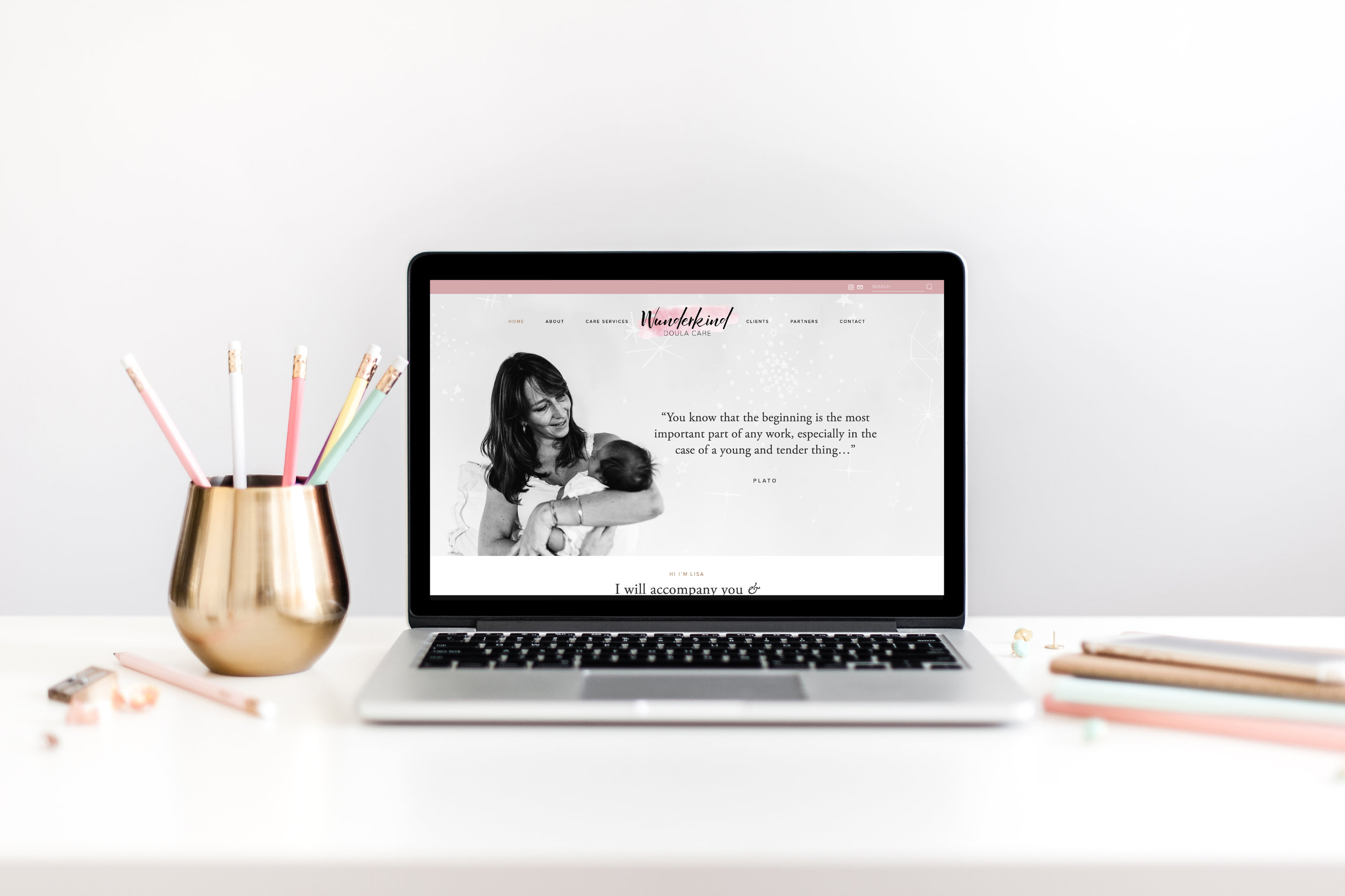 Wunderkind doula care: Branding + Website