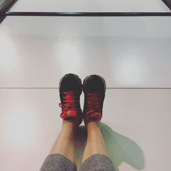 Legs up the wall at LAX. It's my favorite, I'll do it anywhere.