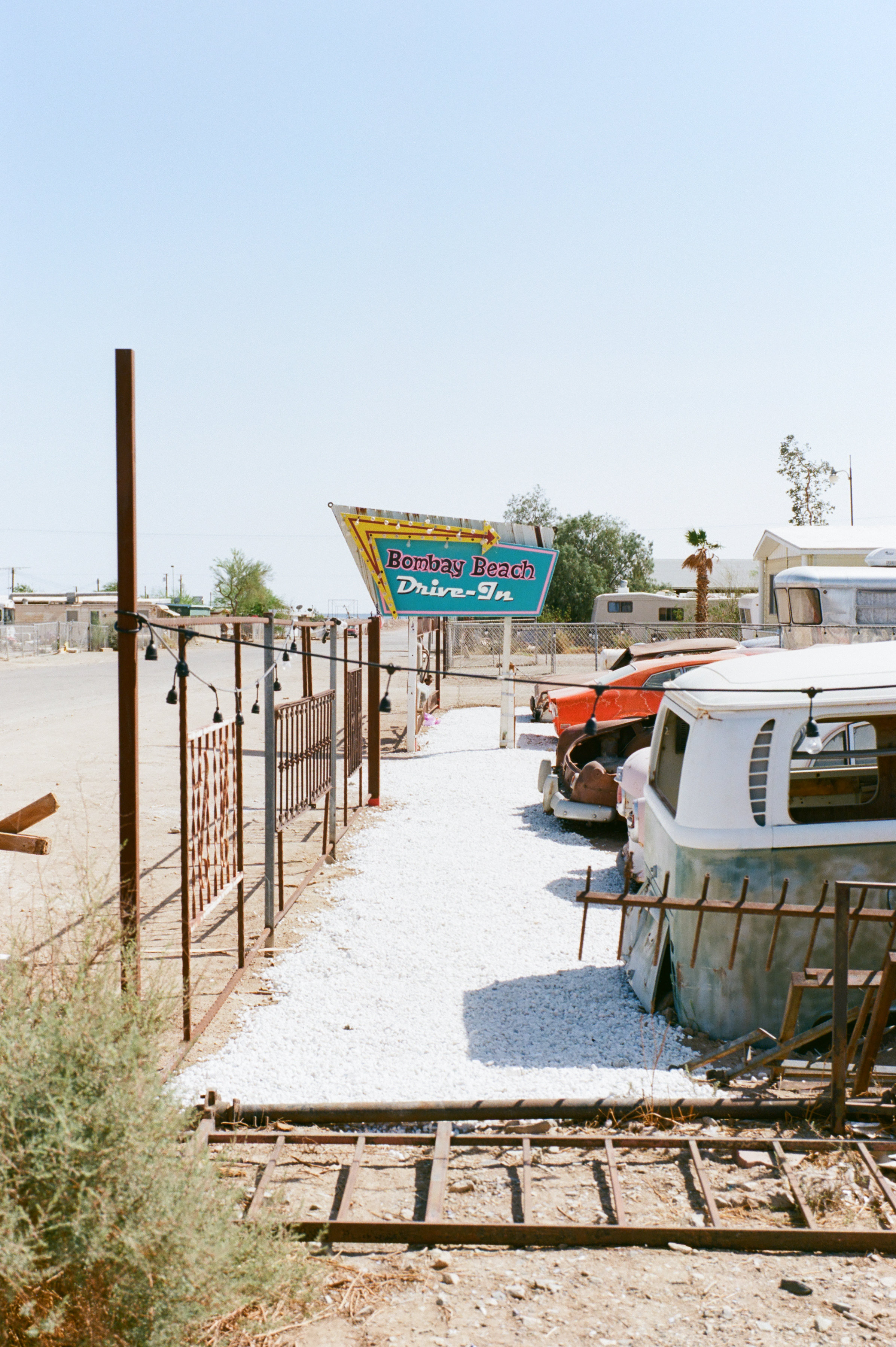 """- Located in the Colorado Desert about two and a half hours east of San Diego lies the Salton Sea Ruins. In the 1950s and 60s people flocked here to vacation and enjoy their time on the """"lake"""". But now all that's left are a few residents and ruins of what once was."""