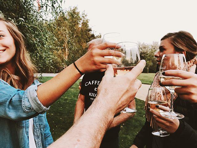 Celebrations 🎉 with friends!  #happy #celebrate #vino #oregon #wine #friends  @lo_kill @kellireno @jbrons7 @marzilynn @mr_ocoyne @ntatom32