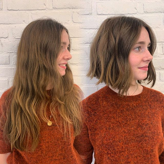 Cut your hair, change your life! 💥 . . . . . #haircut #haircuttransformation #nychairstylist #nychairsalon #livedinhair #livedinhaircut #texturedbob #transformation #transformational #nychair