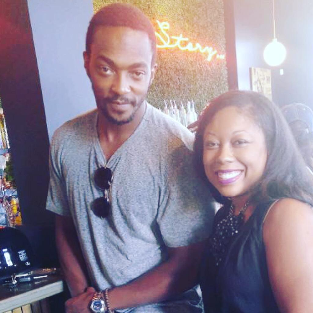 I met Anthony Mackie at Morrow's. A lot of celebs eat here , so if you want to run into one check out this place. I saw Misa Hylton, Toya Wright and her daughter, Essence Atkins (below) , and the comedian Rel.