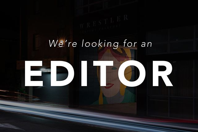 We're after an experienced editor in Wellington. Key word; experienced. If that's you please send a reel to ben@wrestler.nz 🤙