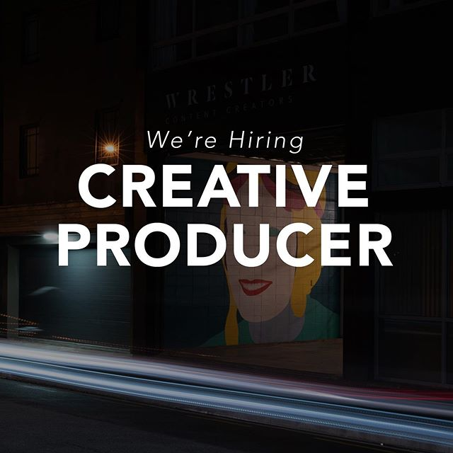 We're on the hunt for an experienced producer. Someone who knows how to manage shoots, budgets, clients and understands the mad world of advertising. If that's you then hit me up at ben@wrestler.nz