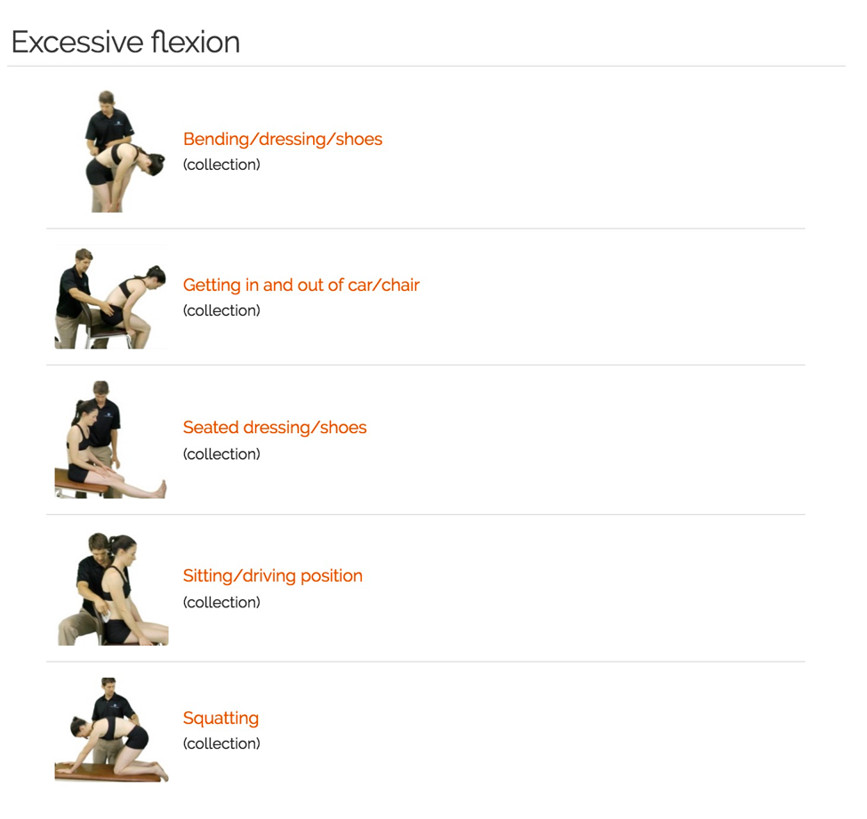 excessive flexion