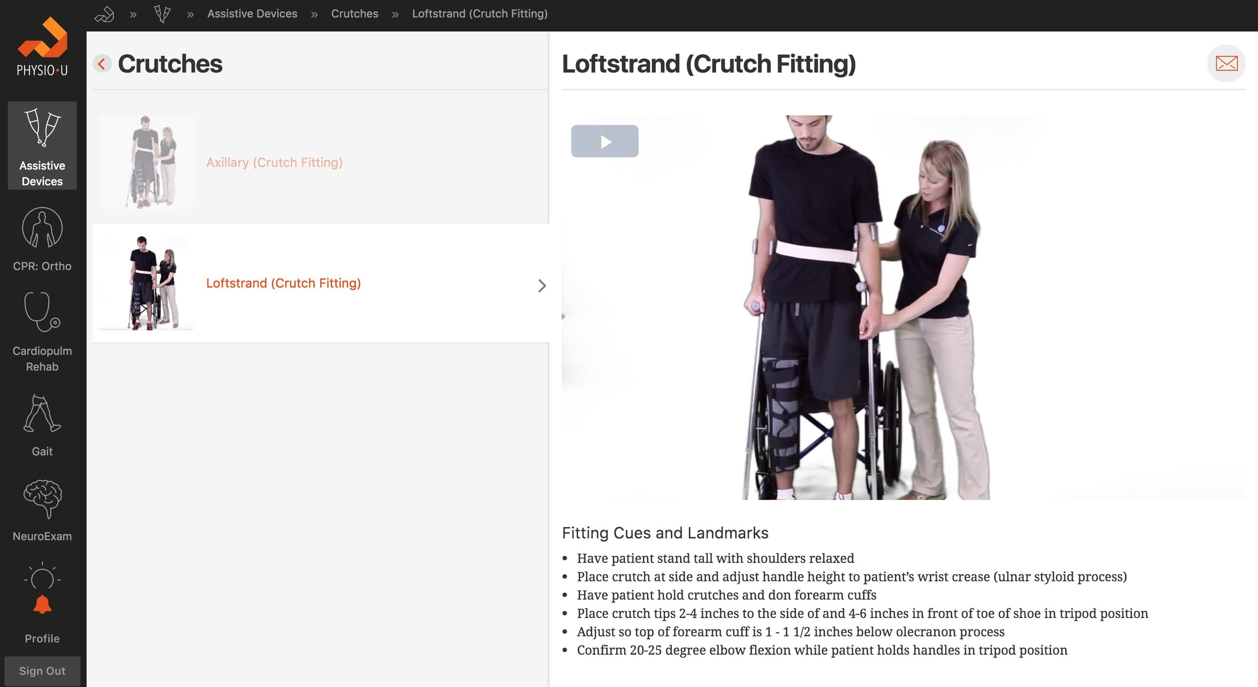 loftstrand crutch fitting
