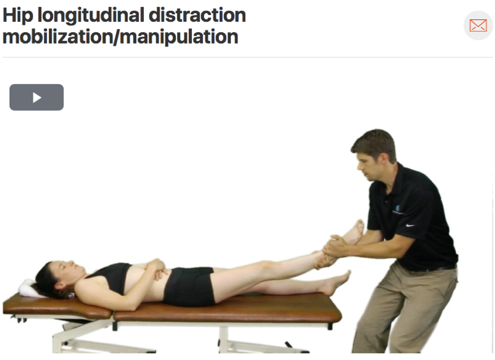This technique can be used for both pain modulation and to help increase range of motion in the hip! ( Click image to watch 1-2 minute video )