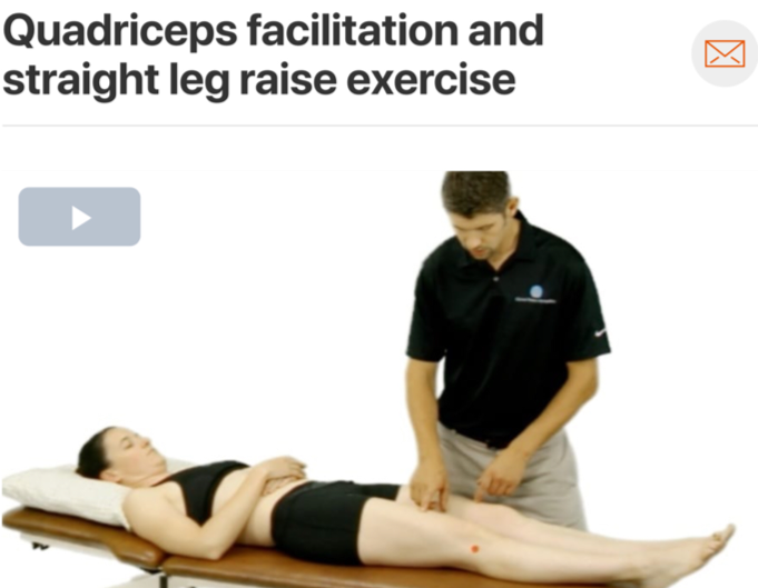 Treatment of ACL injuries depends on whether or not the patient undergoes surgical intervention along with their prior level of activity and prospective level of activity post injury.  Quadriceps strengthening  tends to be necessary in both cases; in fact quadriceps strength is the highest predictor of returning to  full activities of daily living in those who underwent ACL repair! (Click image to watch 1-2 minute video)