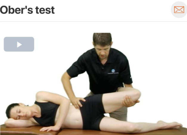 The  Ober's test  is commonly used to assess the length or stiffness of the IT band! (Click image to watch 1-2 minute video)