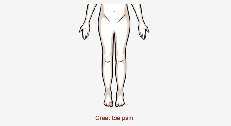 great toe pain