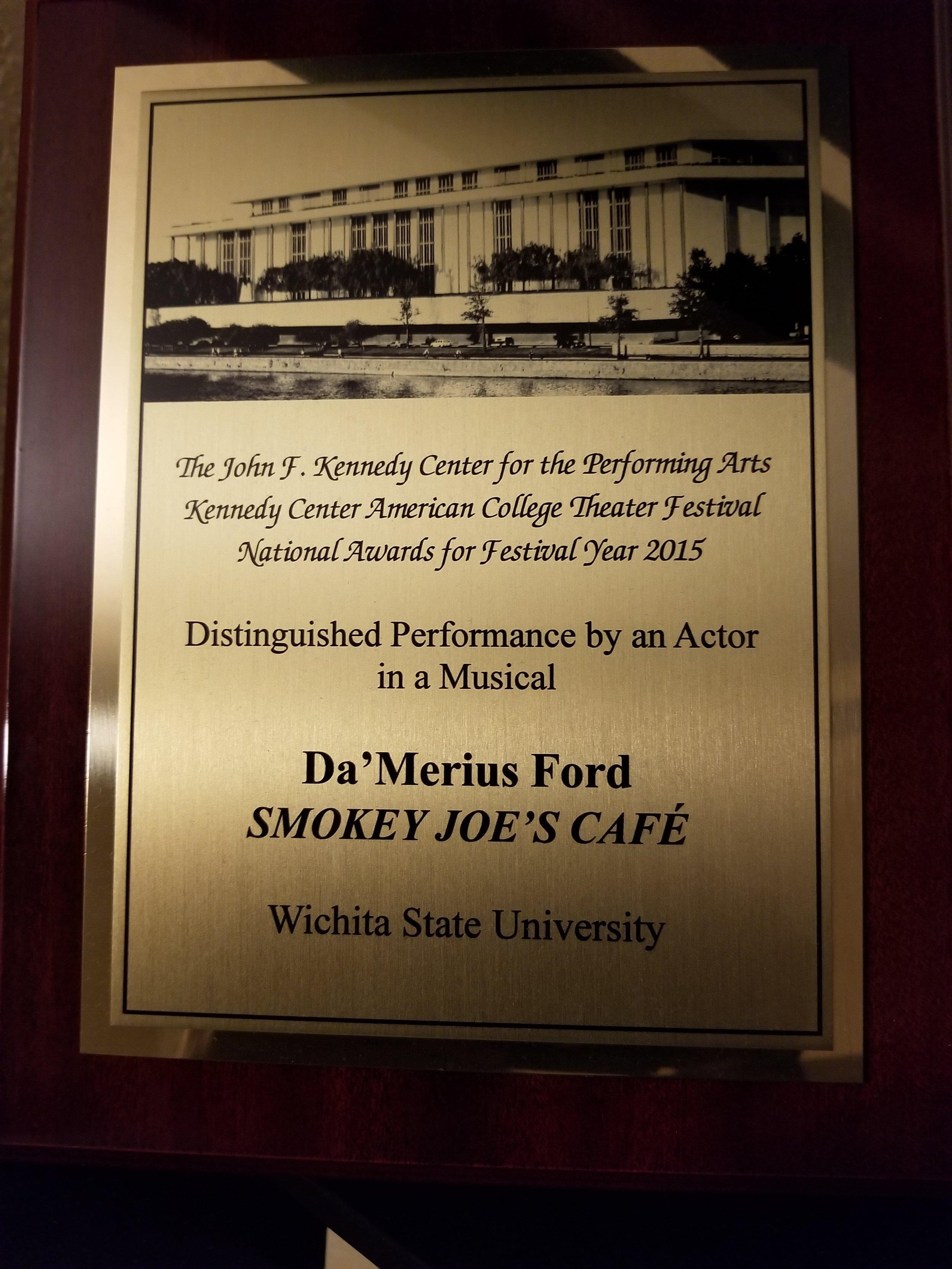 National American College Theatre Festival Award.jpg