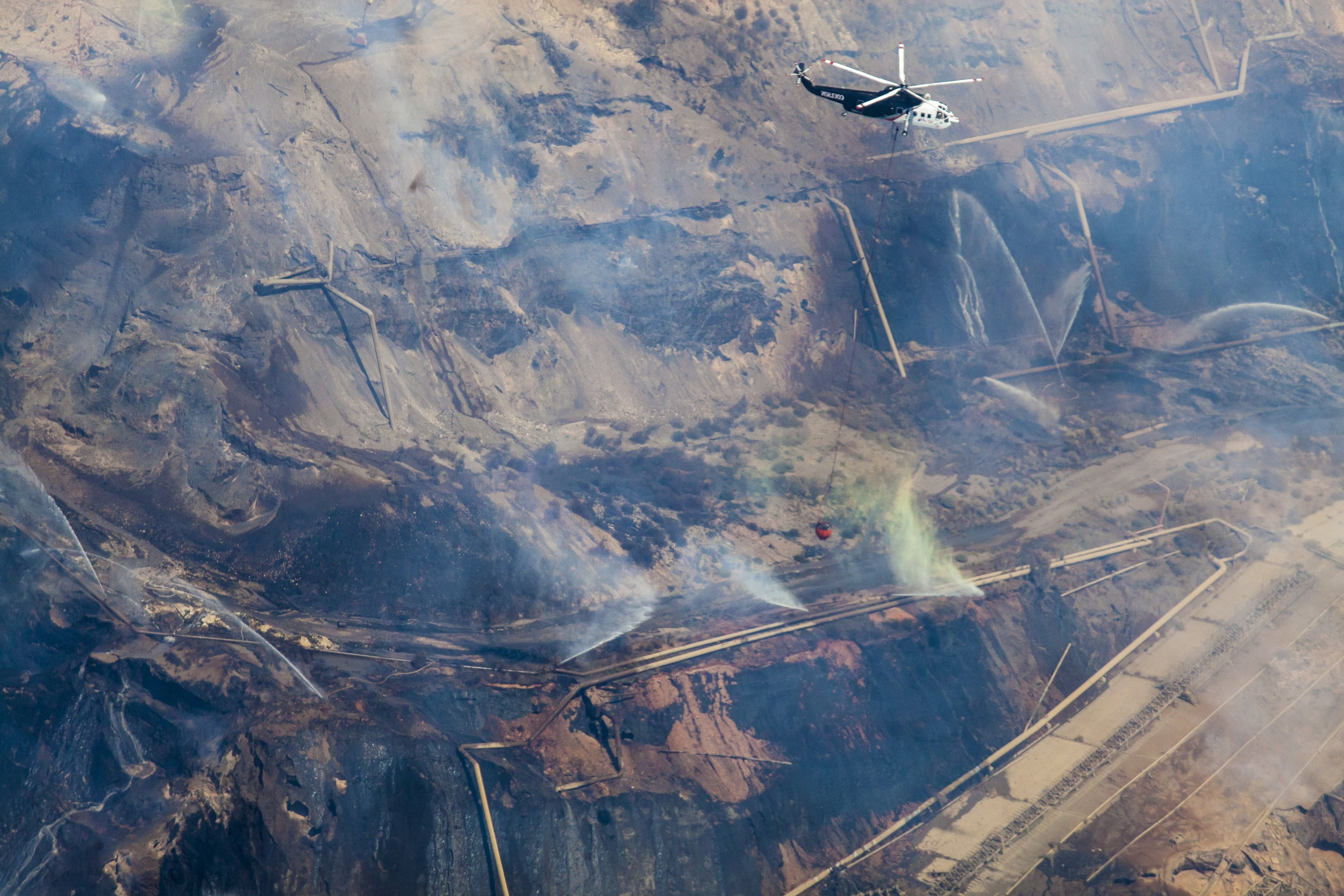 Hazelwood Mine Fire Aerial Photo