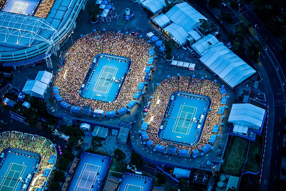 The Australia Open Aerial photograph