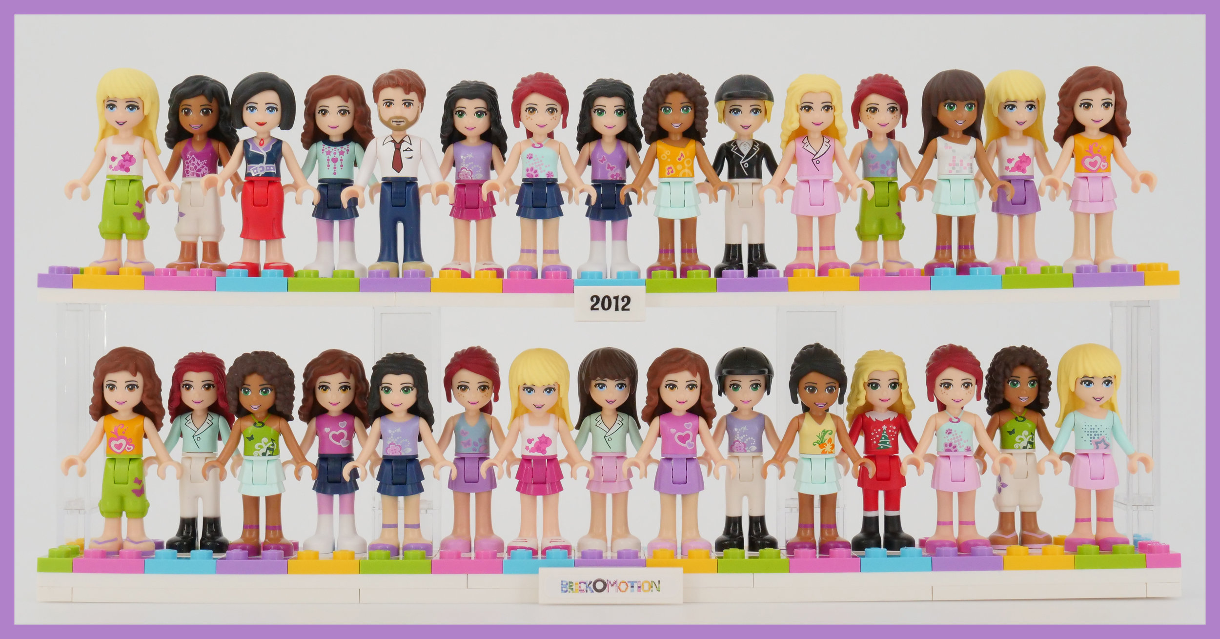 All of the 2012 LEGO Friends minidolls