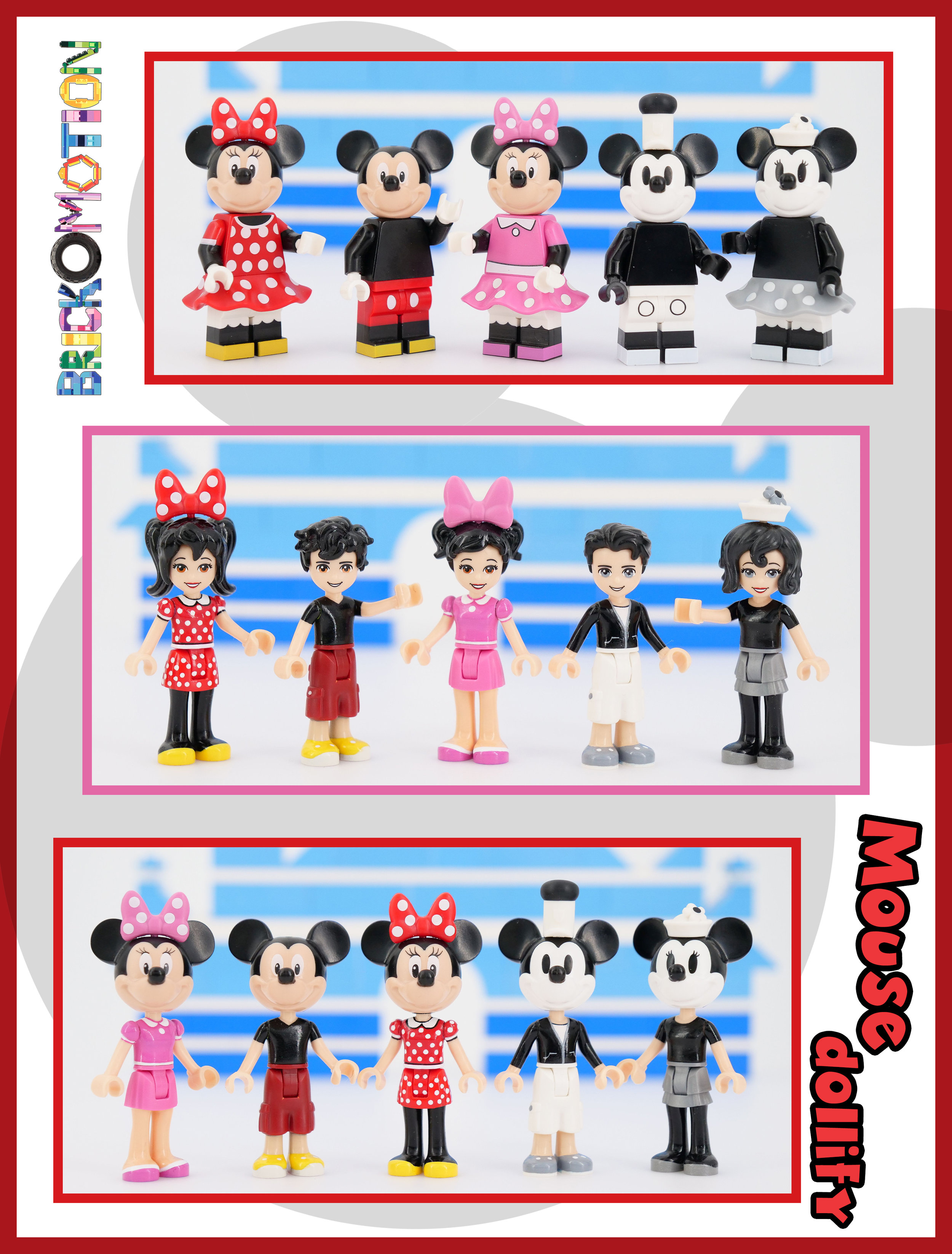Mickey & Minnie Mouse as LEGO Minidolls