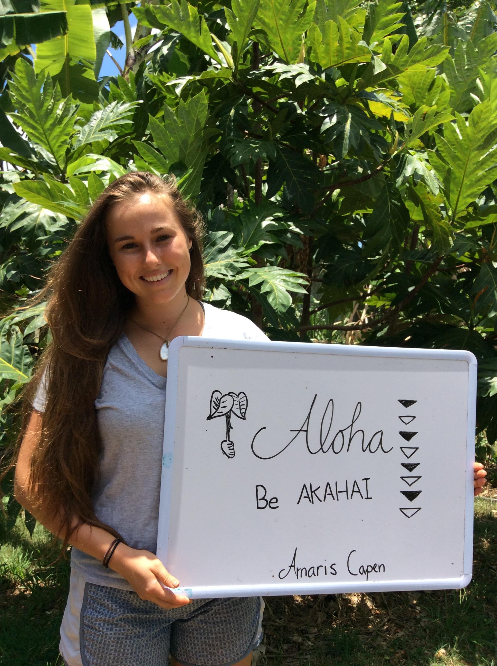 Amaris Capen  (May - July 2017)