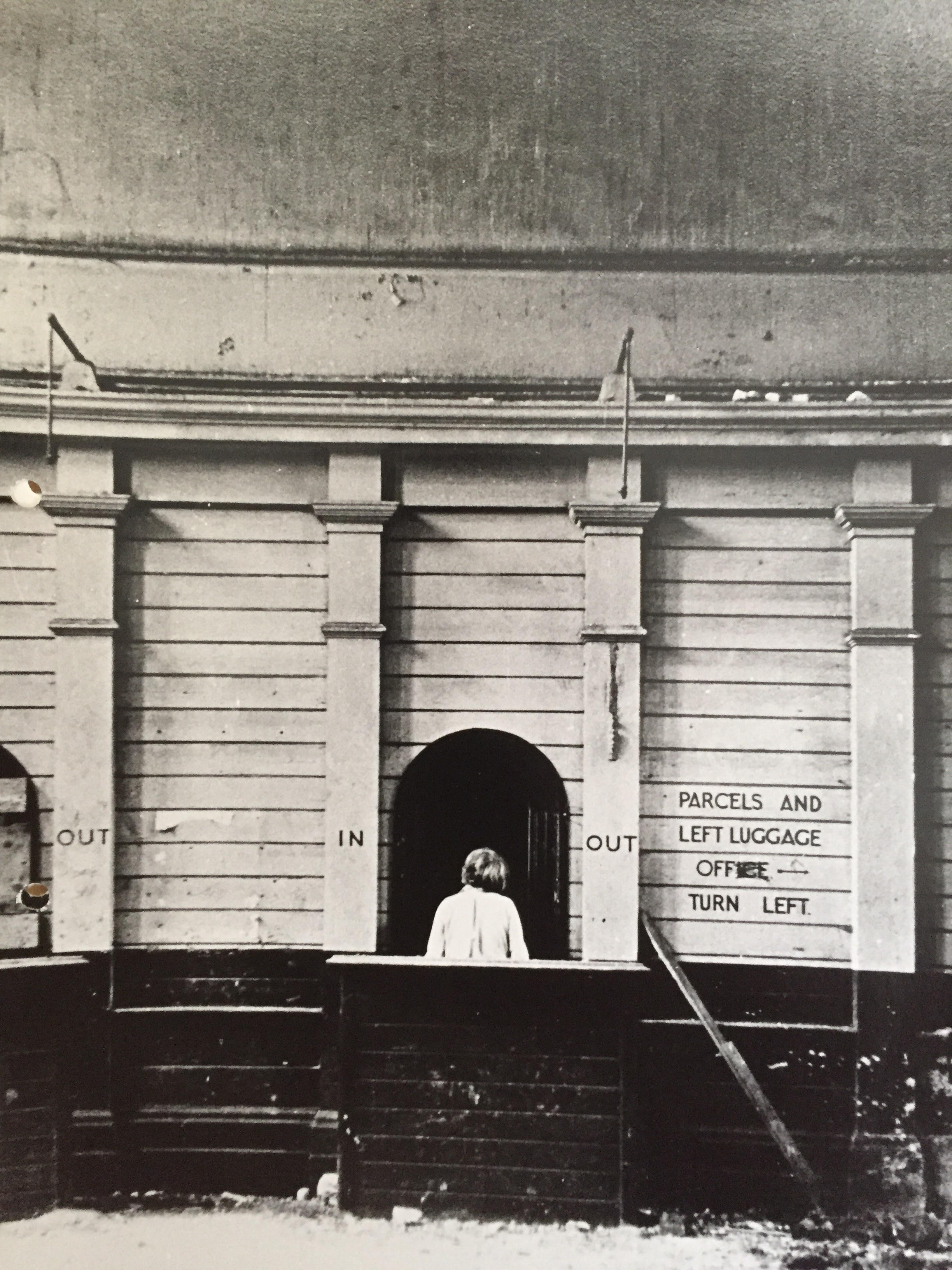 The old booking hall at Green Park Station, Bath photographed long after the last train and passengers had left.
