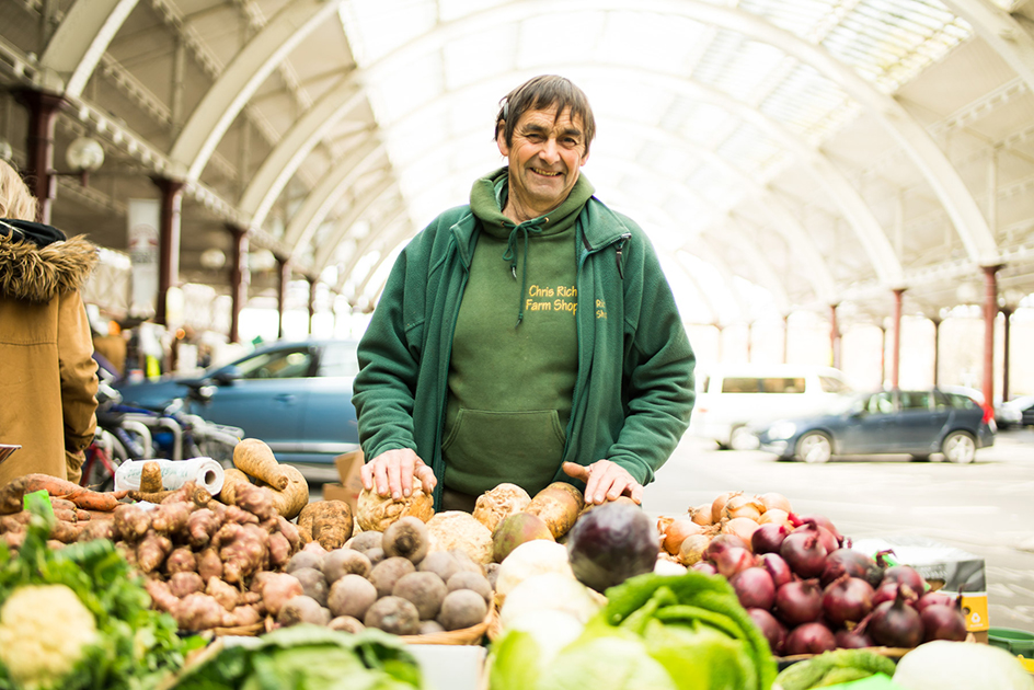 Chris Rich, Bath Farmers' Market, Green Park Station