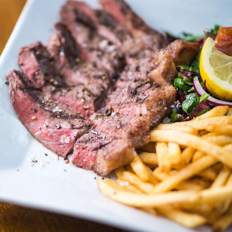 Newton Farm Sirloin Steak at Green Park Brasserie