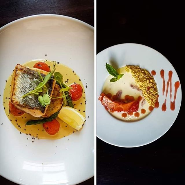 🎉 Our Hake & Panna Cotta summer specials looking rather fine ☀️(info link in bio) Shot by our Restaurant Manager @leodee 📷 #summer #alfresco #alfrescodining #eatfresh #eatlocal #swisbest #hake #cornwall #cornish #pannacotta #dessert #foodies #foodporn #foodphotography #foodphotoshoot #specials #restaurant #cheflife #brazkitchen #batheats #bathdrinks #visitbath #brilliantbath #igersbath #kitchen #cooking #freshproduce