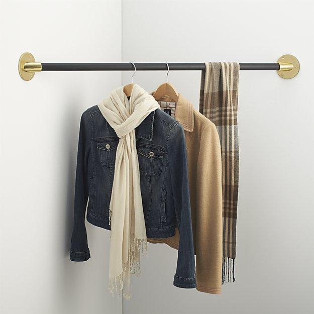 Corner clothes hanging rod (photo: CB2)