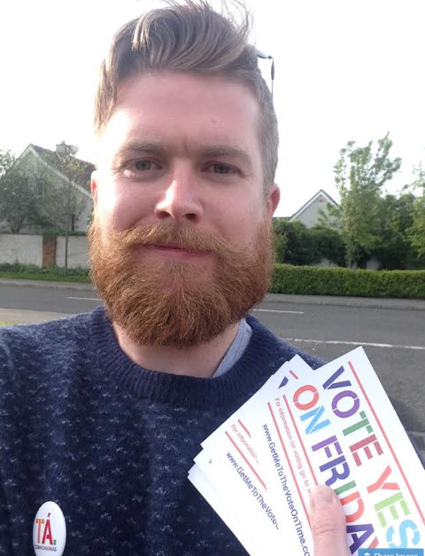 Dave O'Hare canvassing for Marriage Equality in 2015