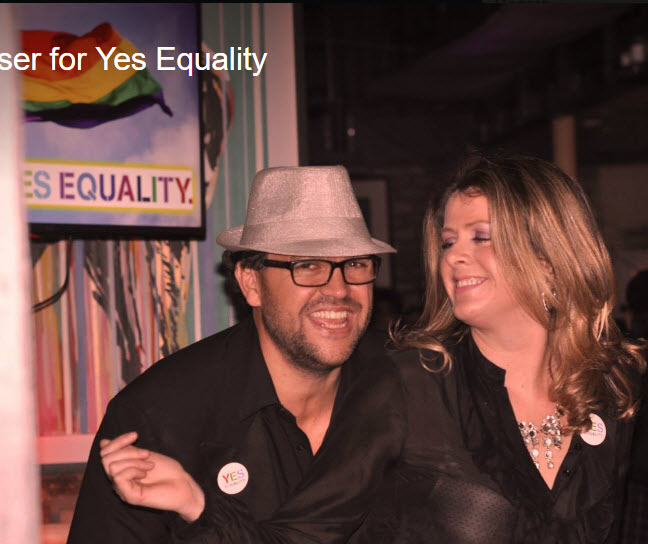 Alex Cordero and wife Barbara Shananan raising funds for Marriage Equality in 2015