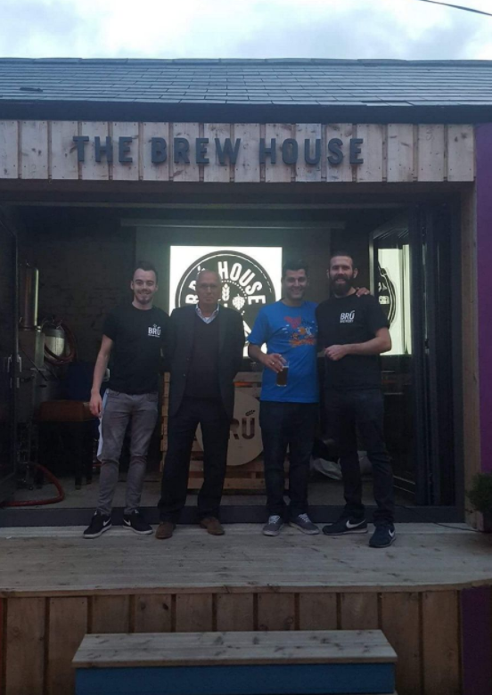 Bobby & Aaron showing Yazan & Marwan Karadsheh our micro brewery in Navan