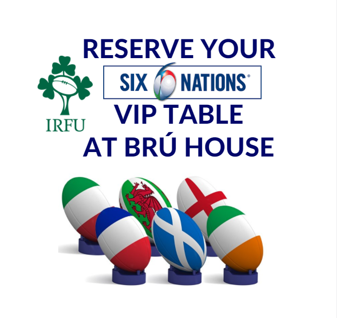 Book your VIP table for up close action during the 6 Nations 2018