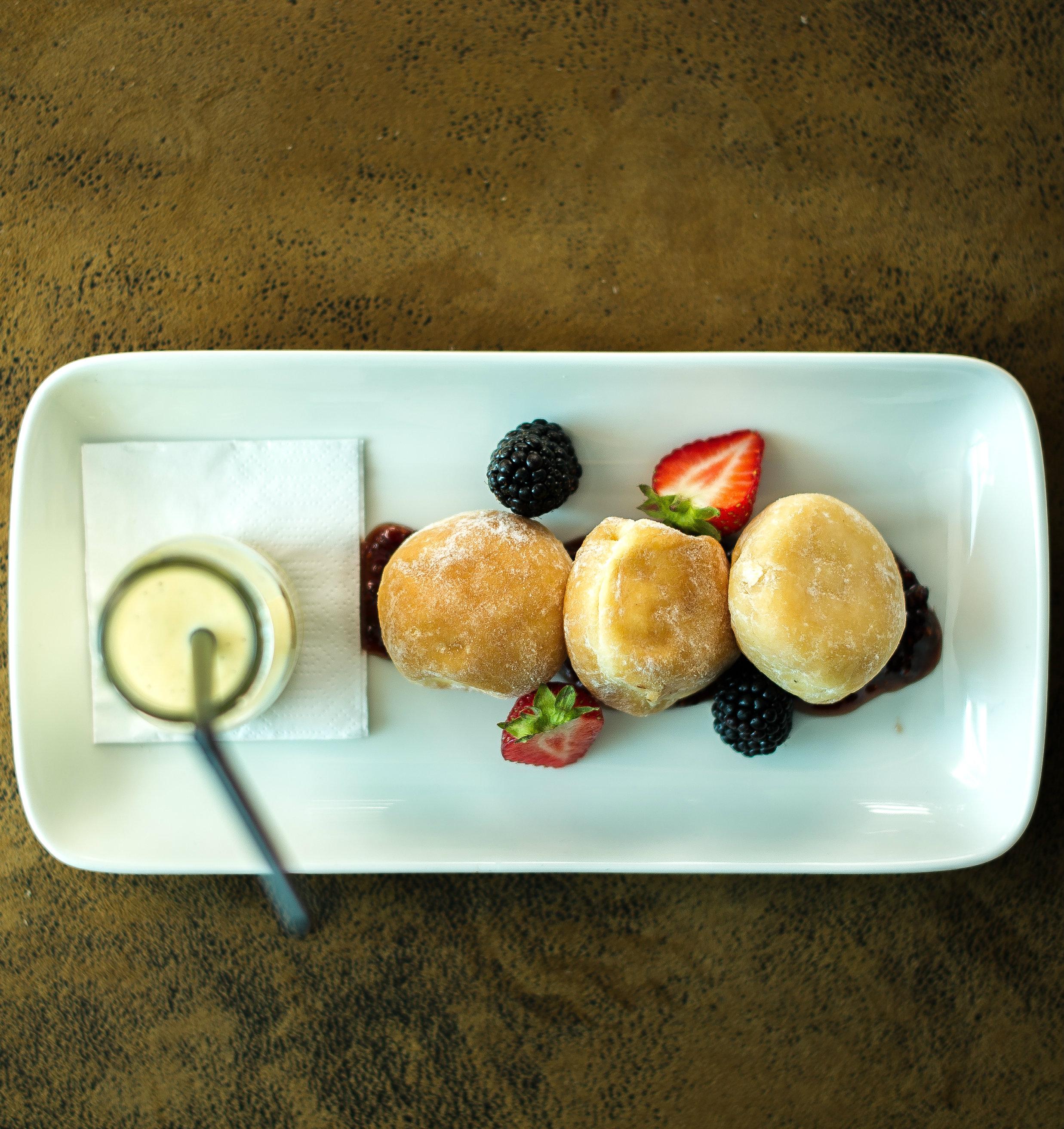 Sugared Berry Doughnuts
