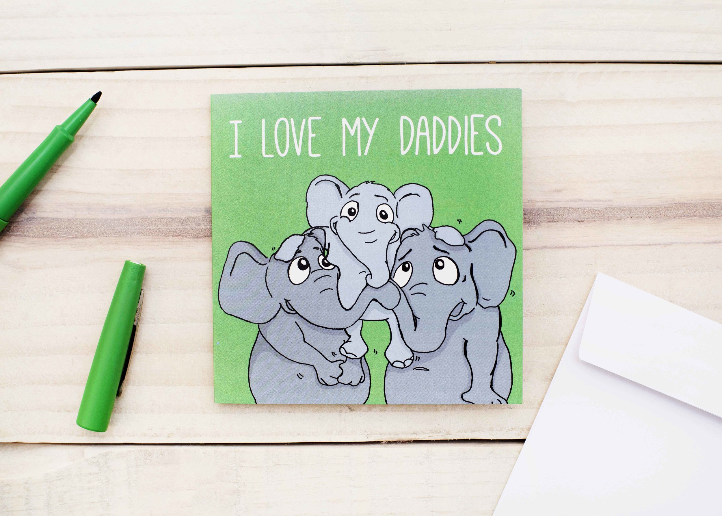 I Love My Daddies, same-sex card for Fathers Day