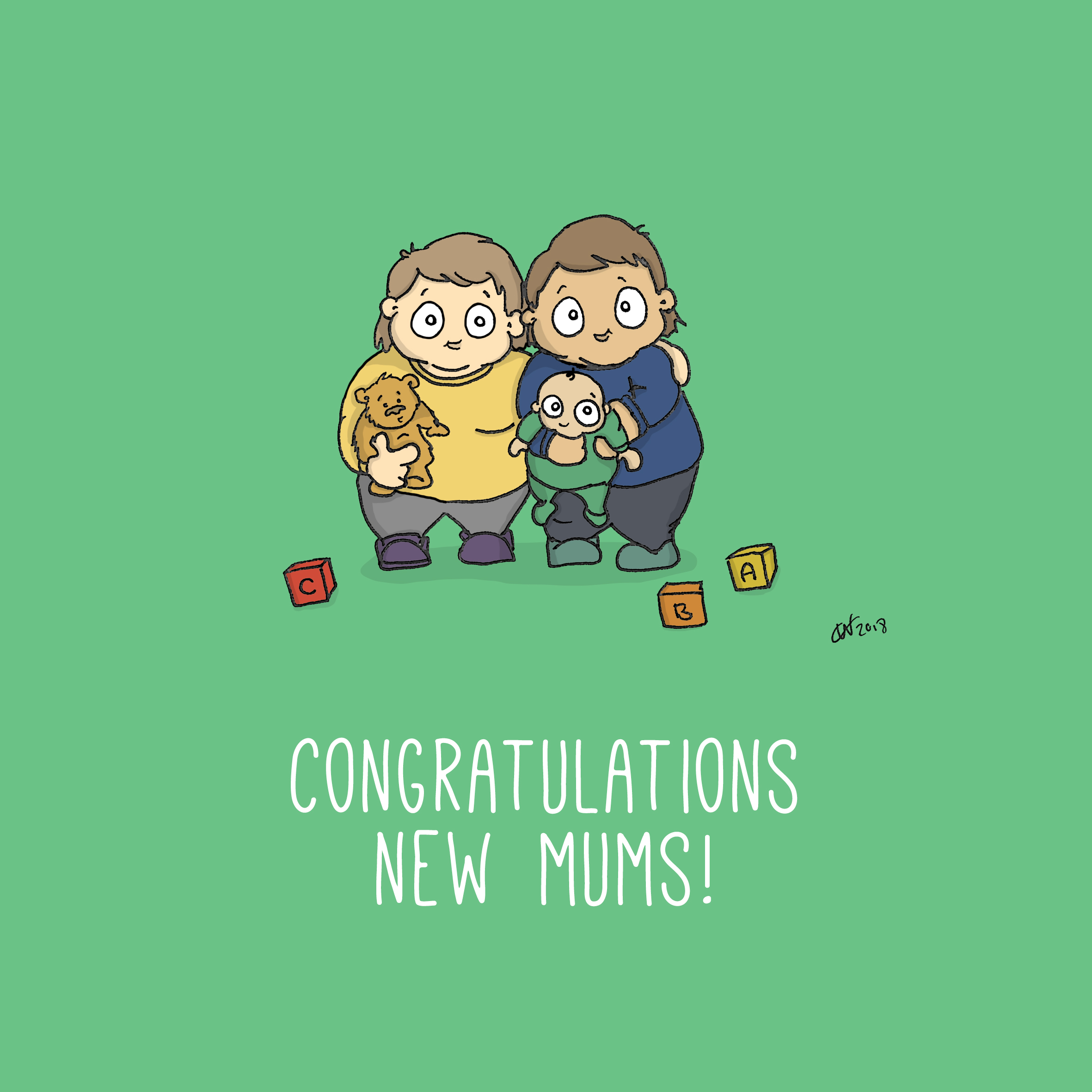 Two Mums New Mums Card
