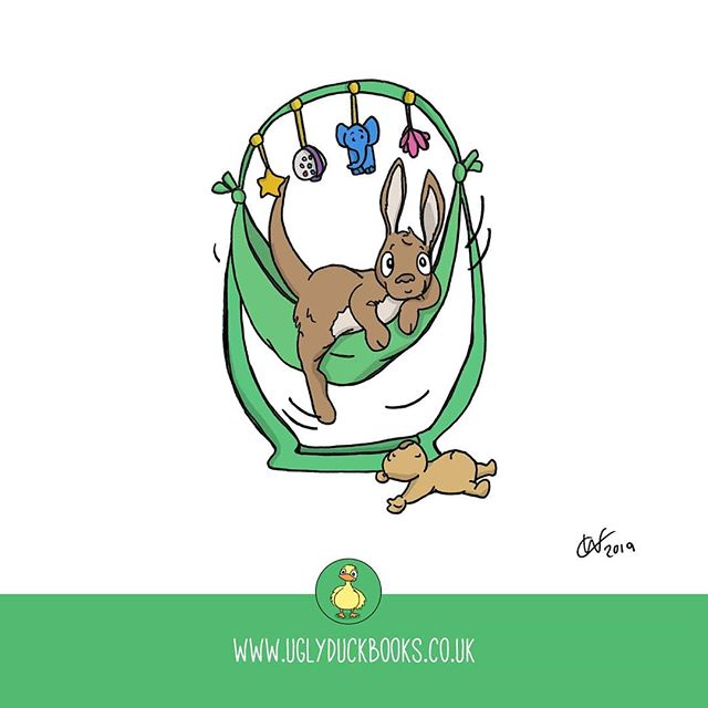 It's far too hot to bounce today. . . . . .  #joey #ontuesdayswedraw #baby #babybouncer #childrensillustrations #kangaroo  #babykangaroo #babybouncer #illustration #drawmore #weeklydrawingchallenge