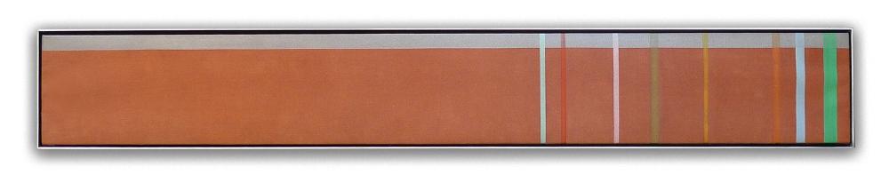 Kenneth Noland : manx, 1972, acrylic on canvas, 6.75 x 50.5 in