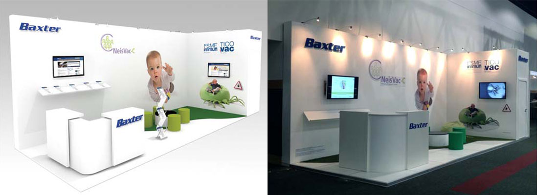 Baxter bespoke design and build exhibition stand