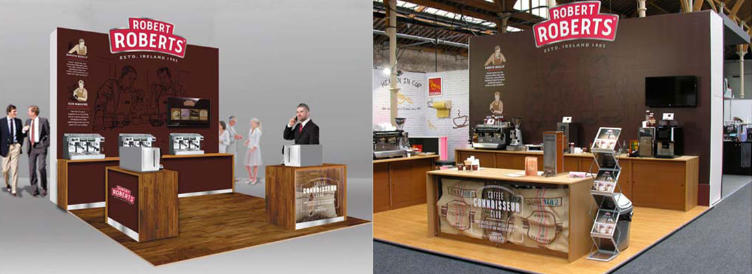 Robert Roberts bespoke design and build exhibition stand