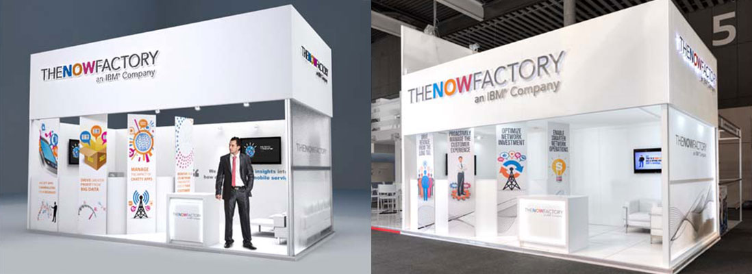 The NOW Factory bespoke design and build exhibition stand