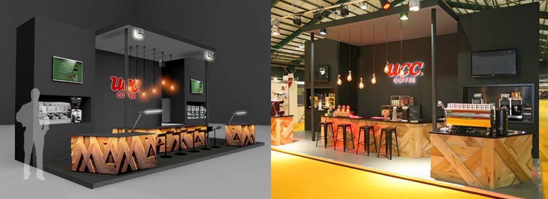 UCC Coffee bespoke design and build exhibition stand