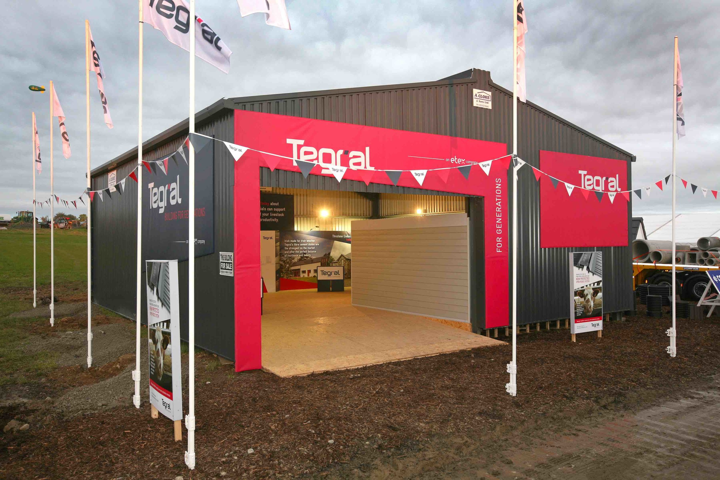 Tegral Exhibition Stand at The National Ploughing Championships 2017